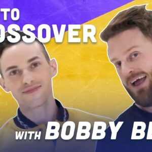 How To Crossover While Ice Skating with Queer Eye's Bobby Berk | Adam Rippon
