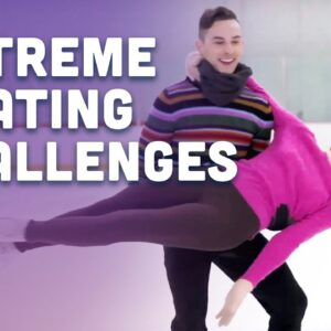 Extreme Skating Challenges with Olympic Champ Meryl Davis | Adam Rippon