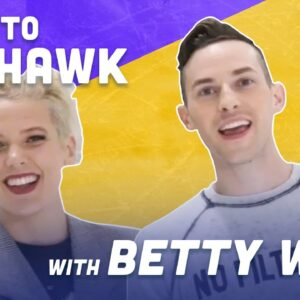 How To Mohawk While Ice Skating with Betty Who | Adam Rippon