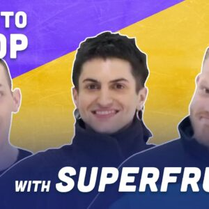 How To Stop While Ice Skating with Superfruit | Adam Rippon