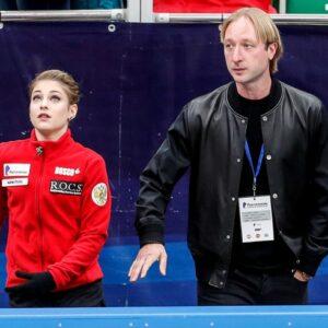 evgeni plushenko my goal is the olympic games for two gorgeous girls sasha trusova and alena kostornaia