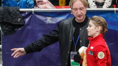 evgeni plushenko with a crystal crystal conscience we give kostornaia back