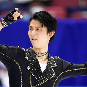 hanyu rocks his way to the lead at japanese nationals