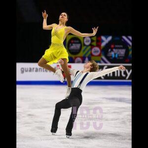 Katarina DelCamp and Ian Somerville USFS Championships 2021 Junior Ice Dance Bronze Medalists