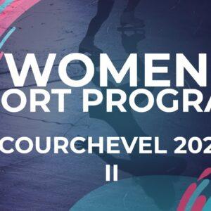 Ahsun Yun  (KOR) Women Short Program | Courchevel 2 - 2021