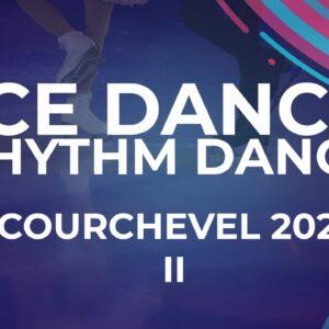 Kayleigh Maksymec / Maximilien Rahier SUI Ice Dance Rhythm Dance | Courchevel2 - 2021