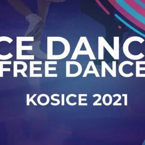 LIVE 🔴 | Ice Dance Free Dance  | Kośice - 2021