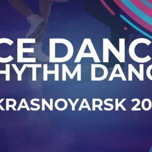 Dea KUPARADZE / Danila DAVELIEV GEO | ICE DANCE RHYTHM DANCE | Krasnoyarsk Week 4 #JGPFigure