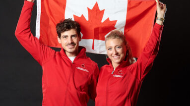 gilles and poirier debut their olympic programs