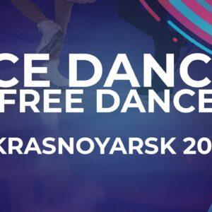 Celina FRADJI / Jean-Hans FOURNEAUX FRA | Ice Dance Free Dance | Krasnoyarsk Week 4 #JGPFigure