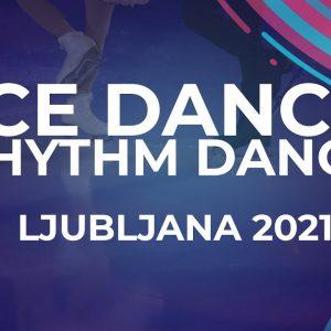 Natalie D'ALESSANDRO / Bruce WADDELL CAN   ICE DANCE RHYTHM DANCE   Ljubljana Week 5 #JGPFigure