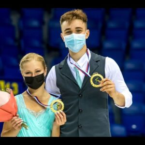Winner interview Mukhortova/Evgenyev (RUS) | Kosice | #JGPFigure