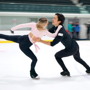 Holly HARRIS Jason CHAN, Australian Ice Dancers perform a section of their 2021-22 Free Dance