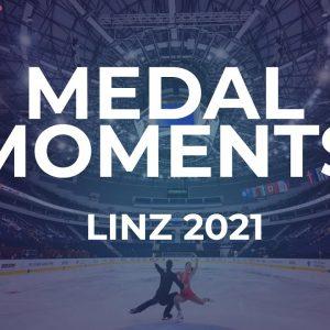 Victory Ceremony | Ice Dance | Linz 2021 #JGPFigure